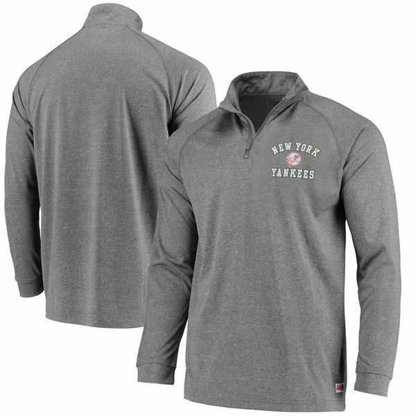 New York Yankees Stitches Team Logo Quarter-Zip Pullover Jacket ...