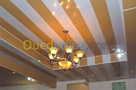montage faux plafond en PVC Biskra Zeribet el oued Algérie ...