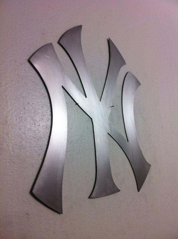 New York Yankees Mlb Logo Metal Wall Art Metal Wall Art Wall Art Metal Art