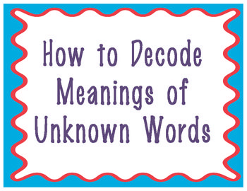 Decoding Strategies for Meanings of Unknown Words