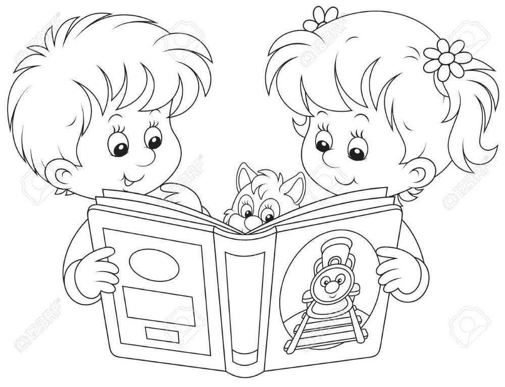 Lectura De Los Ninos En 2020 Dibujos Ninos Leyendo Dibujo De Ninos Jugando Moldes De Ninos