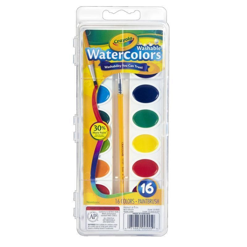 6 Ea Crayola Washable Watercolor Paint Set Watercolor Pans