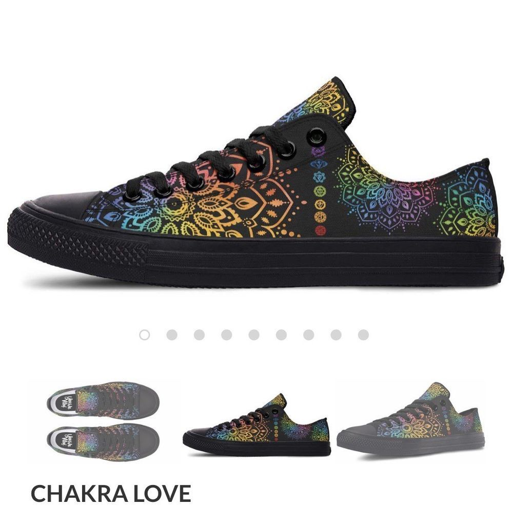 1bb0a67eaa13f Yes We Vibe Low Top Chakra Love #fashion #clothing #shoes ...