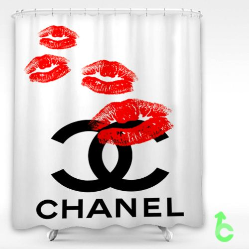 Cheap Chanel Logo Kiss Shower Curtain