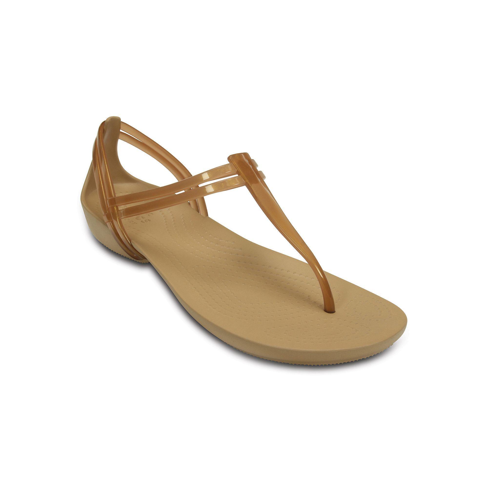 Crocs Isabella Tstrap Sandals Bronze Women s shoescrocs hair dryercrocs toddler rain bootsNew Arrival