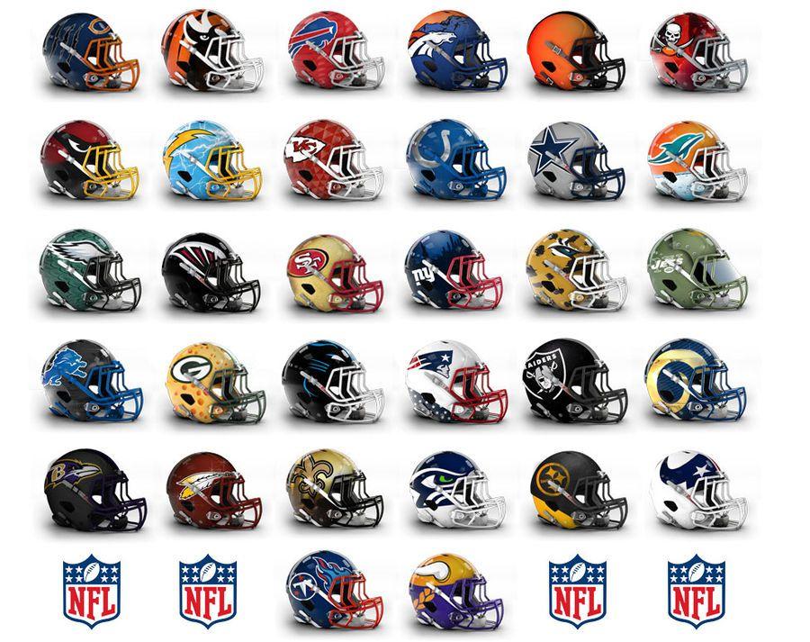 32 nuevos diseños de cascos para cada equipo de la NFL 7556ad64b2b