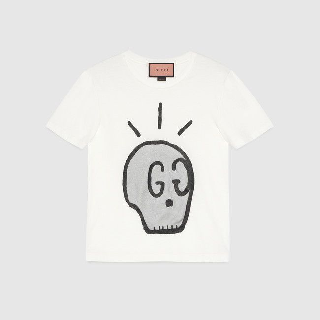3075ca70 Gucci Ghost | My Style | Gucci t shirt mens, Gucci, Mens fashion