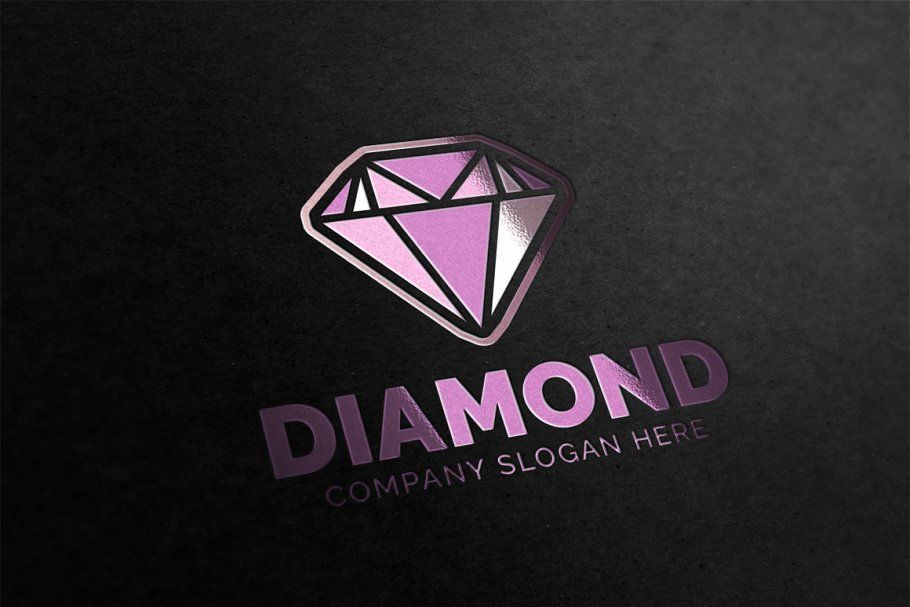 Diamond Logo Diamond logo, Font art, Business card logo
