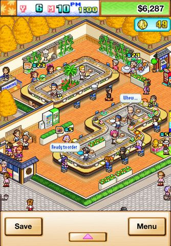 The Sushi Spinnery From Kairosoft For Ios Pixel Art Pixel Games Pixel