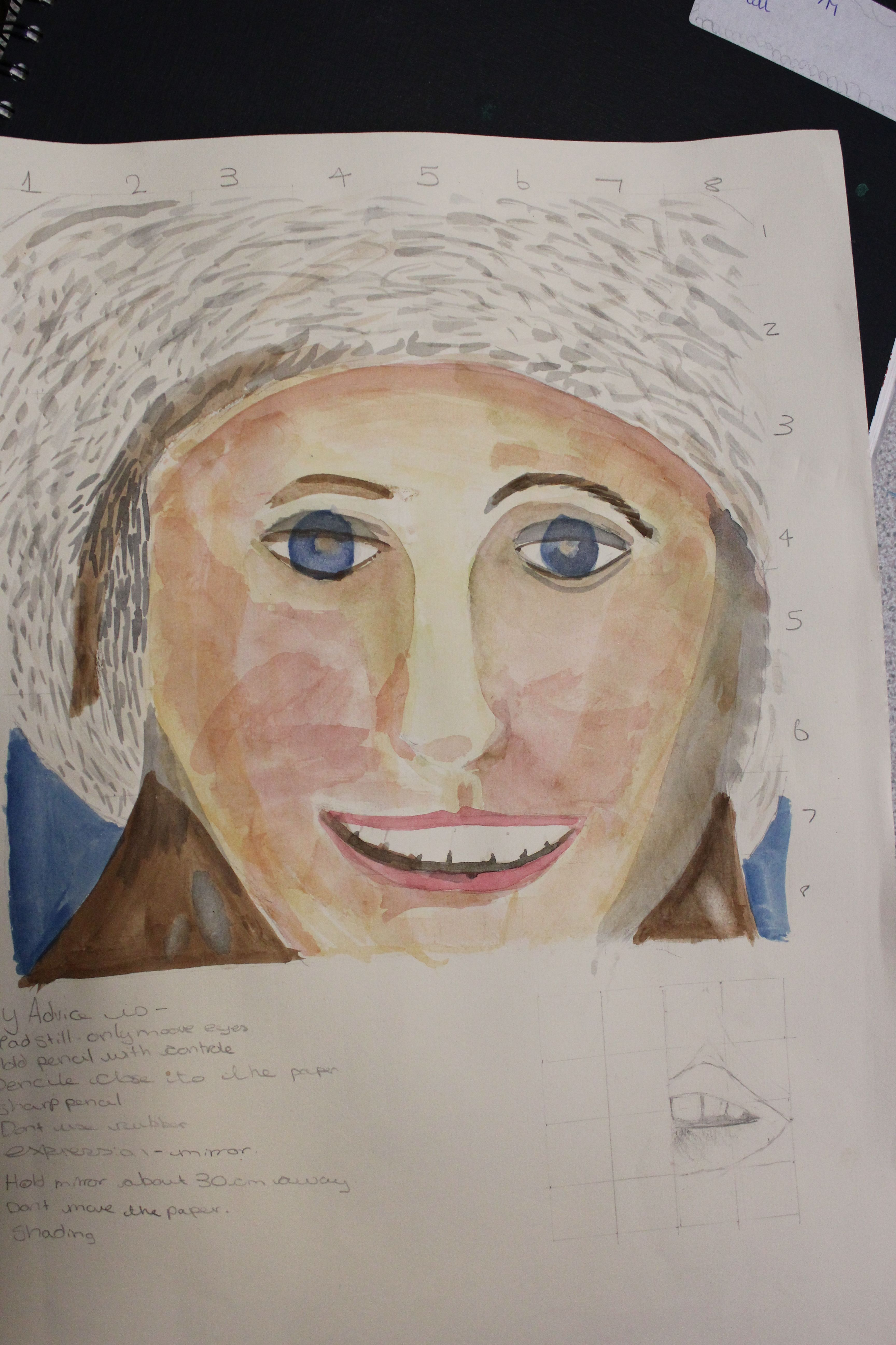 Year 8 Portraiture Project