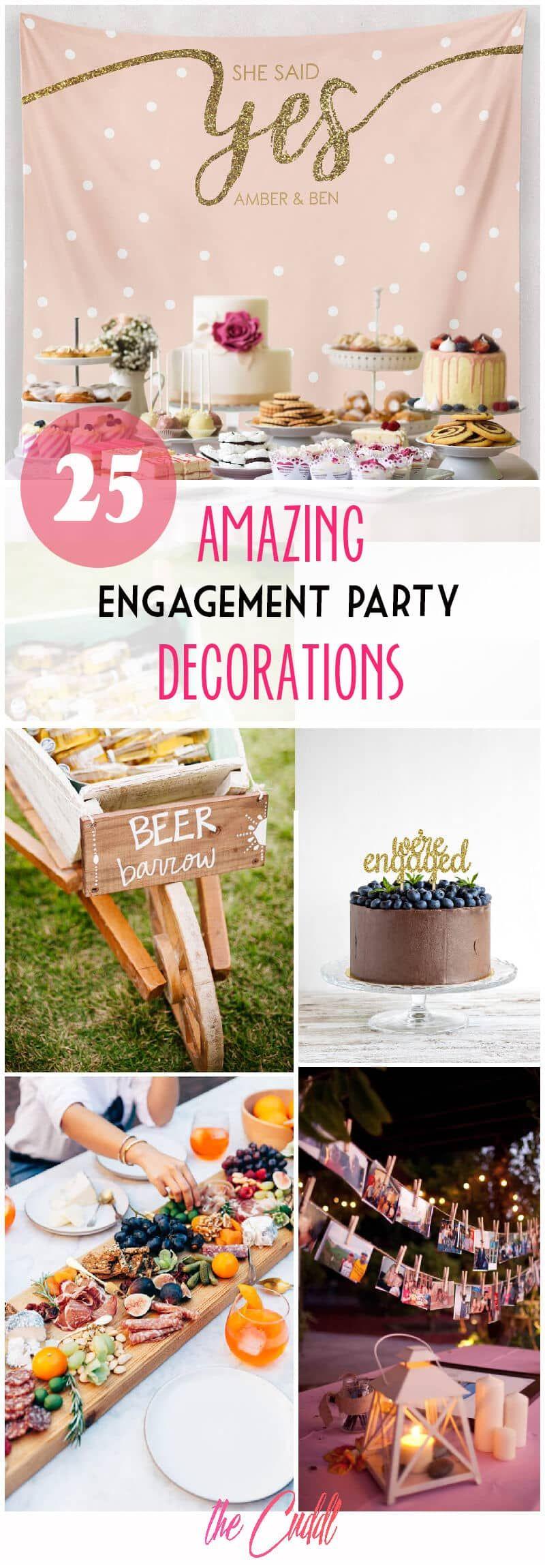 25 Amazing DIY Engagement Party Decoration Ideas for 2019 #engagementpartyideasdecorations