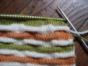 modele de point fantaisie au tricot