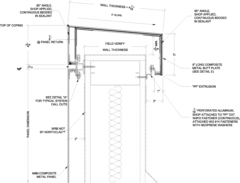 composite coping section | ACP detail in 2019 | Insulation