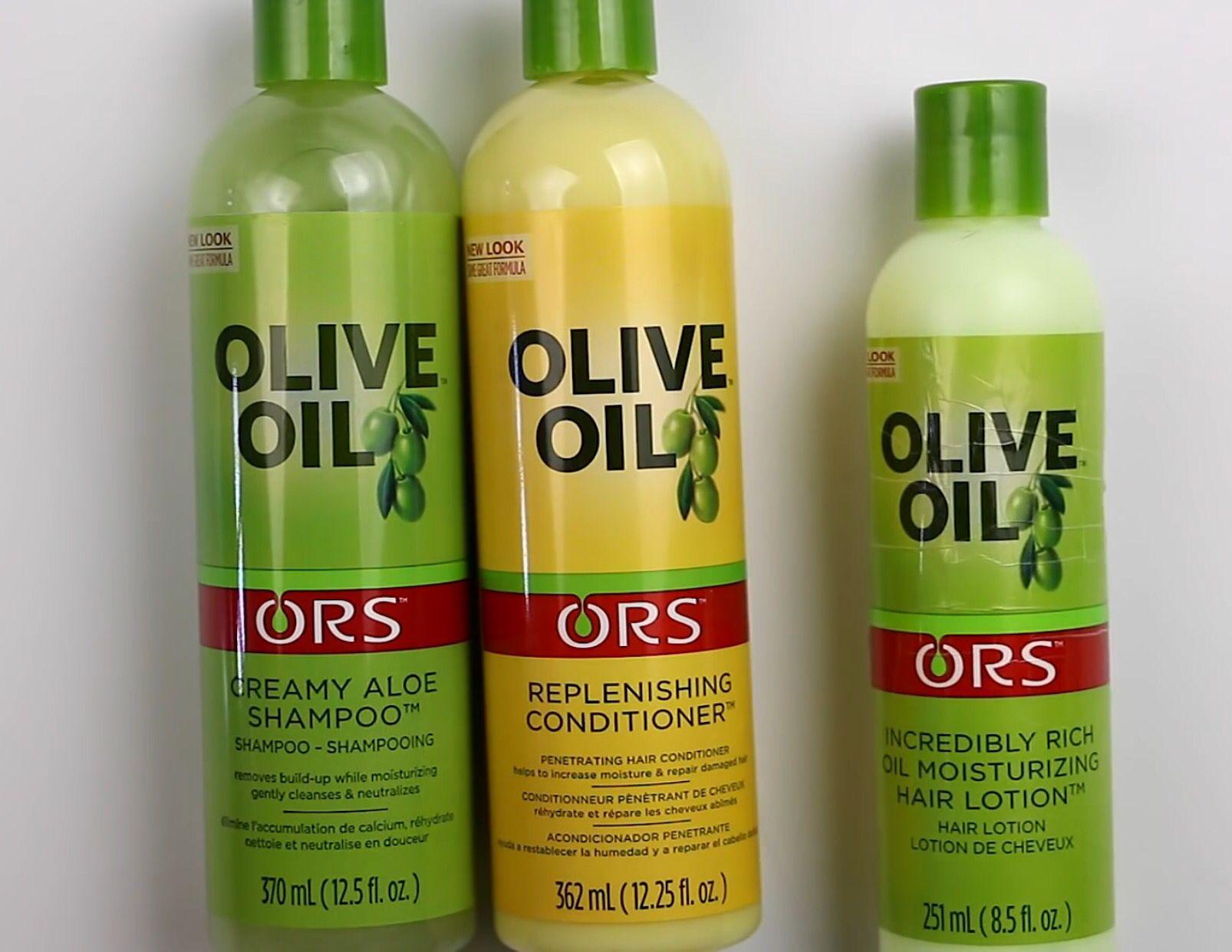Ors Olive Oil Creamy Aloe Shampoo Peplenishing Conditioner And