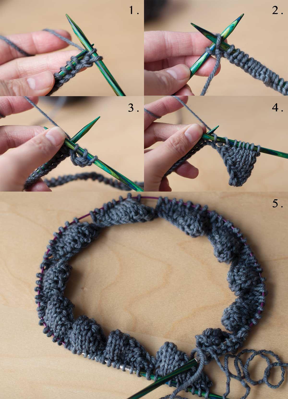 How to Knit Entrelac in the Round   Tejido, Muestras de punto y Puntadas
