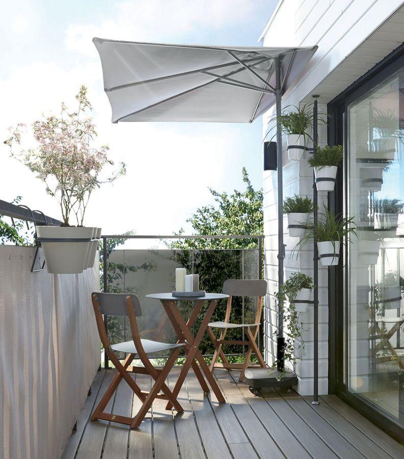 Ideas que podemos robar de terrazas peque as for Terrazas pequenas ikea