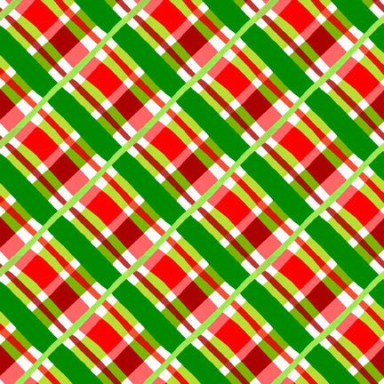 Christmas Fabric/ Red, Gold and Green/Plaid Fabric/Quilting, Clothing, Crafts/Winter Sewing Material/Cotton Yardage/Fat Quarter/By The Yard