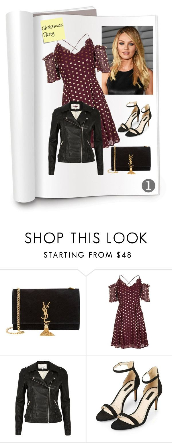 """""""newchic"""" by mish-01 ❤ liked on Polyvore featuring Yves Saint Laurent, Topshop, River Island and Post-It"""