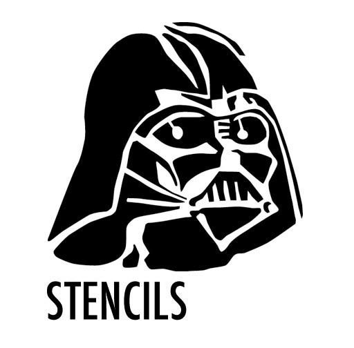 image relating to Printable Stencils for Spray Painting named spray paint stencils printable  wars pumpkin stencil