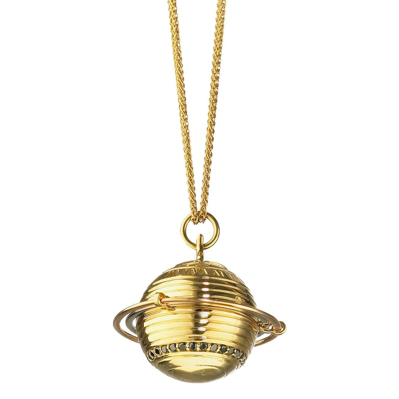 """Commitment"" Saturn Planet Charm Necklace"