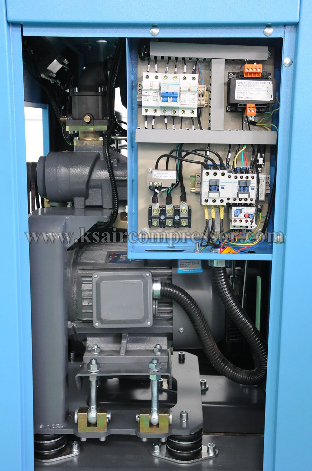 inner structure of our stationary screw air compressor
