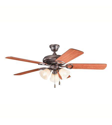 Kichler Lighting Sutter Place Premier 3 Light Fan in Oil Brushed Bronze 339400OBB #lightingnewyork #lny #lighting
