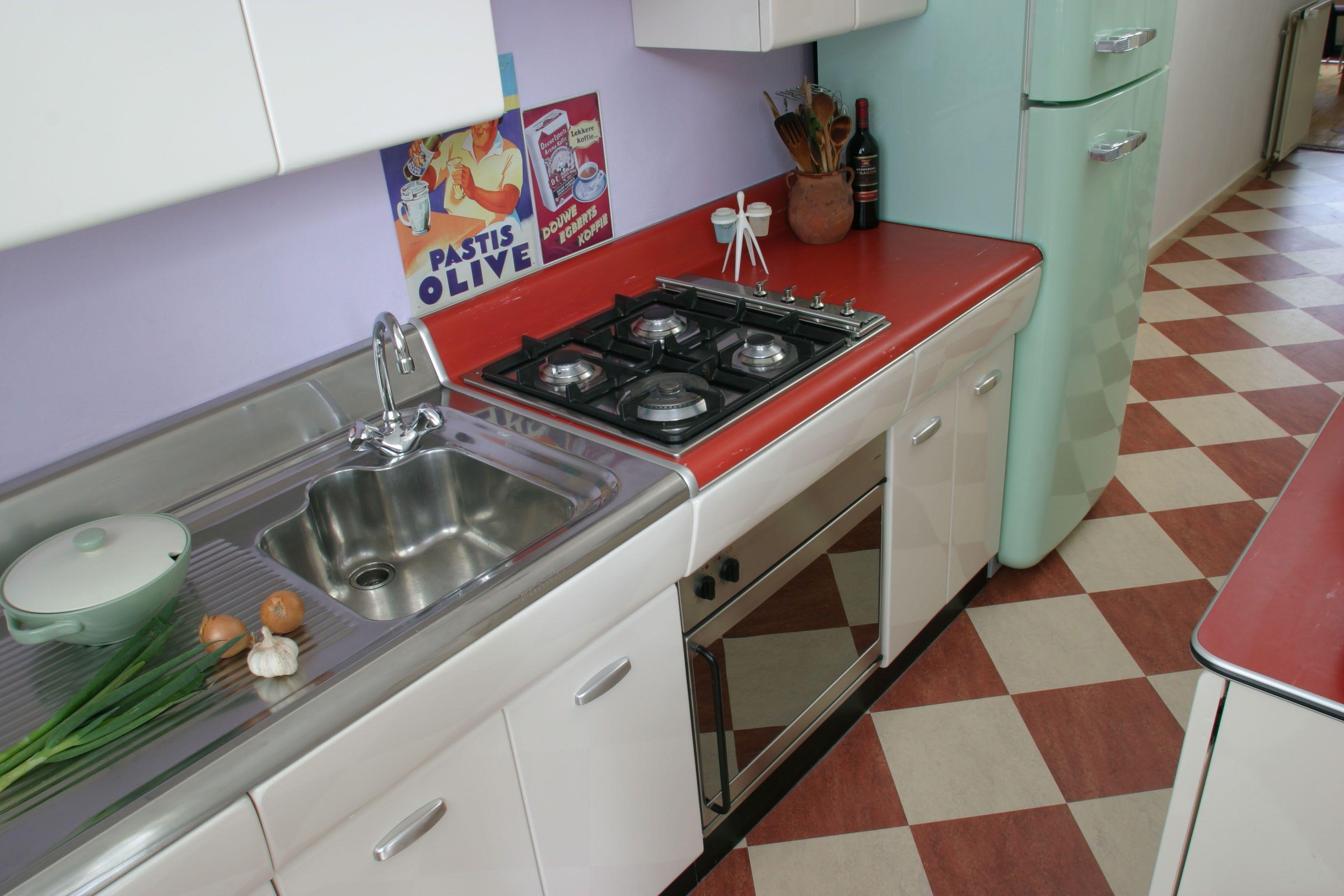 American Kitchen Retro Keukens Via Idfix Bcl American Kitchens Keuken Ideen
