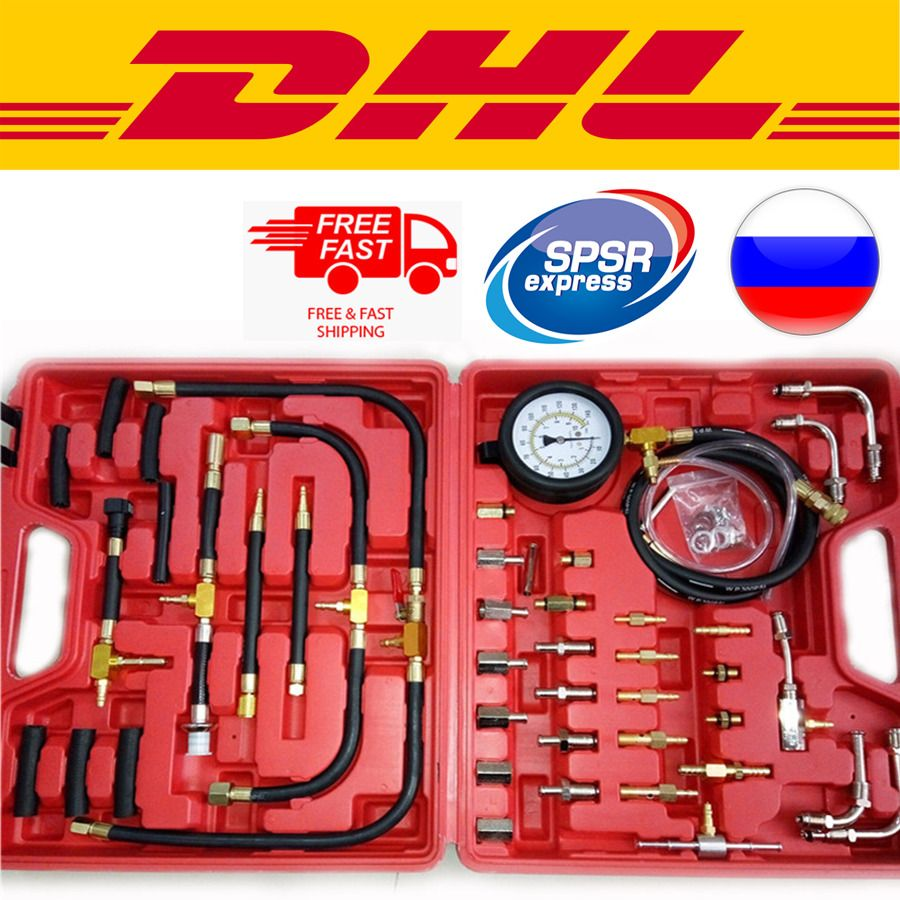 New TU-443 Deluxe Manometer Fuel Pressure Gauge Engine Injection ...