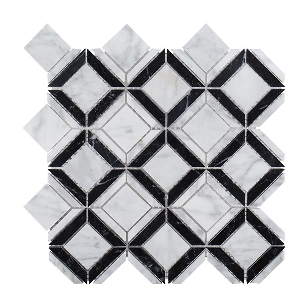 Jeff Lewis Tile Collection At Home Depot Jeff Lewis Design Marble Mosaic Floor Mosaic Flooring