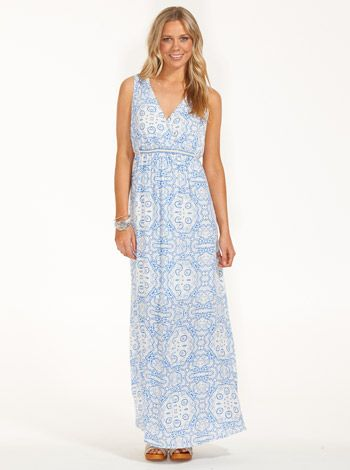 For Mum - Dress.   Image for Split Hem Cheesecloth Maxi from Just Jeans