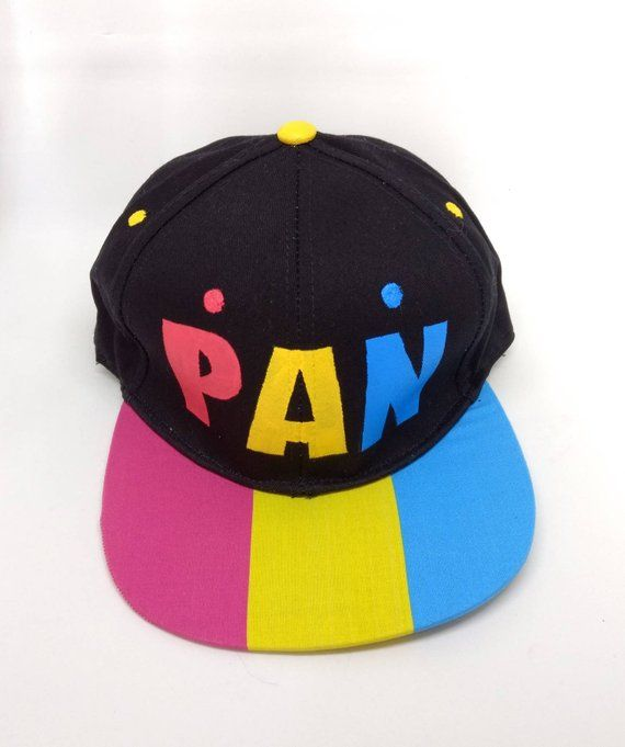 a8f9a8d66 Pansexual Pride Flag Snapback Hat - LGBTQA+ Pansexuality Pan Pride ...
