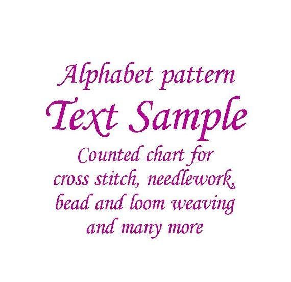 Alphabet counted pattern, cross stitch pattern, hand