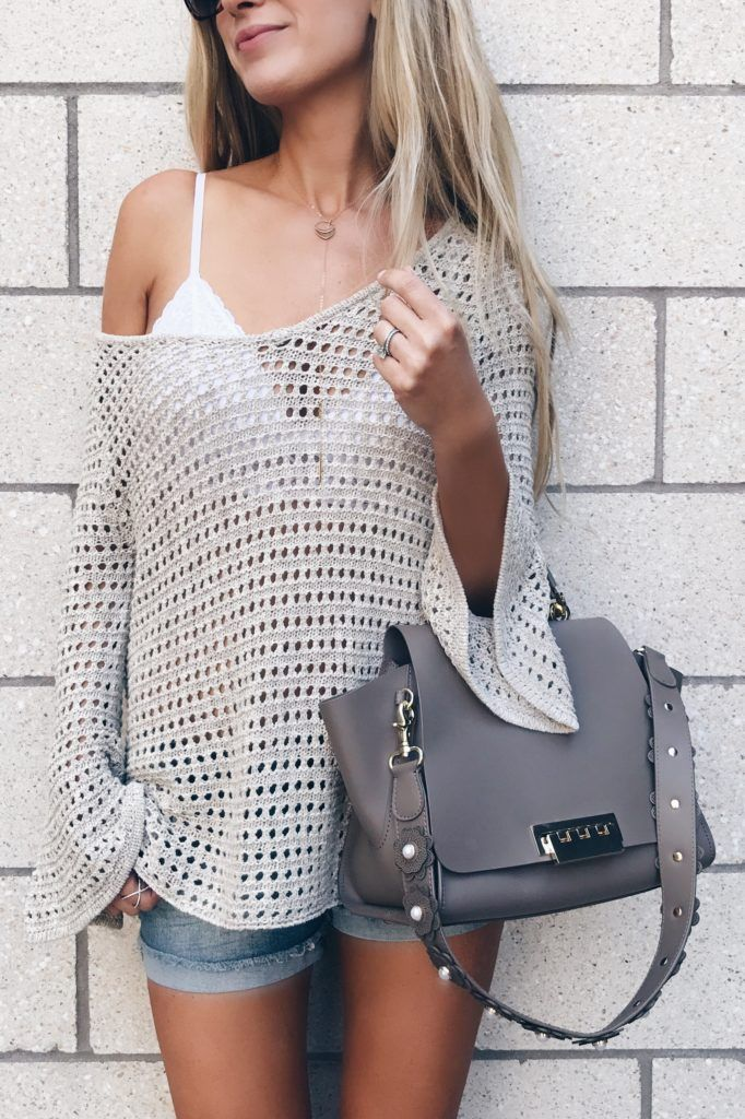 01fc73ed2bd bralette outfit ideas  white lace bralette under slouchy open knit sweater  on pinterestingplans