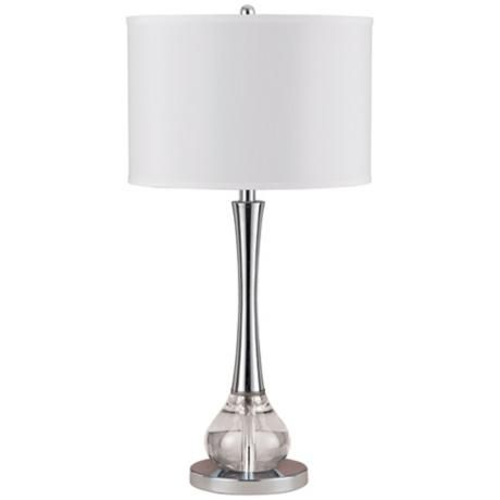 Abaco Crystal And Metal Table Lamp N4573 Lamps Plus Metal Table Lamps Table Lamp Lamp