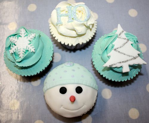 Winter Wonderland Theme Cupcakes
