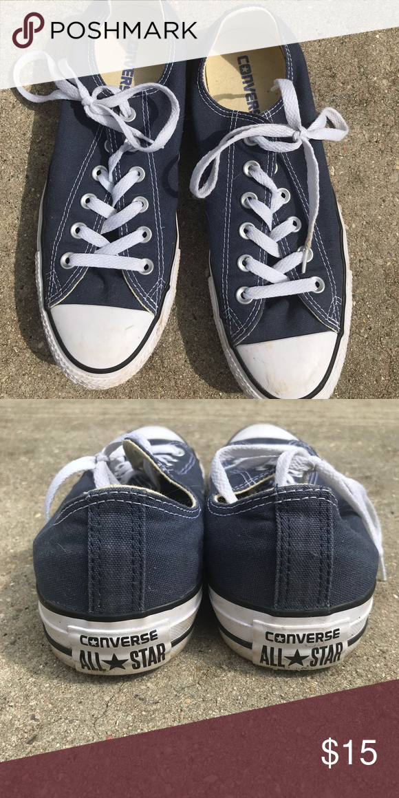 33cf607bd03863 Converse shoe- Barely worn Navy Blue Converse shoe. Only wore a few times.