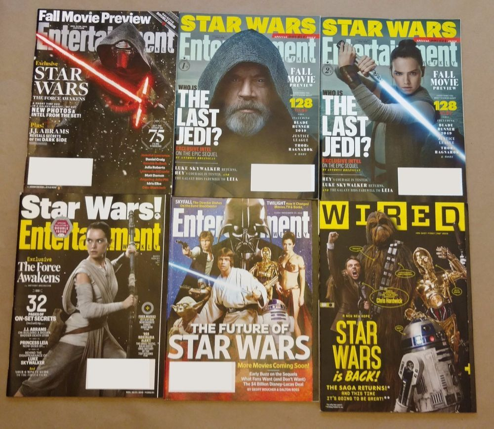 Star Wars Themed Magazines lot of 9 Entertainment Weekly, Wired ...