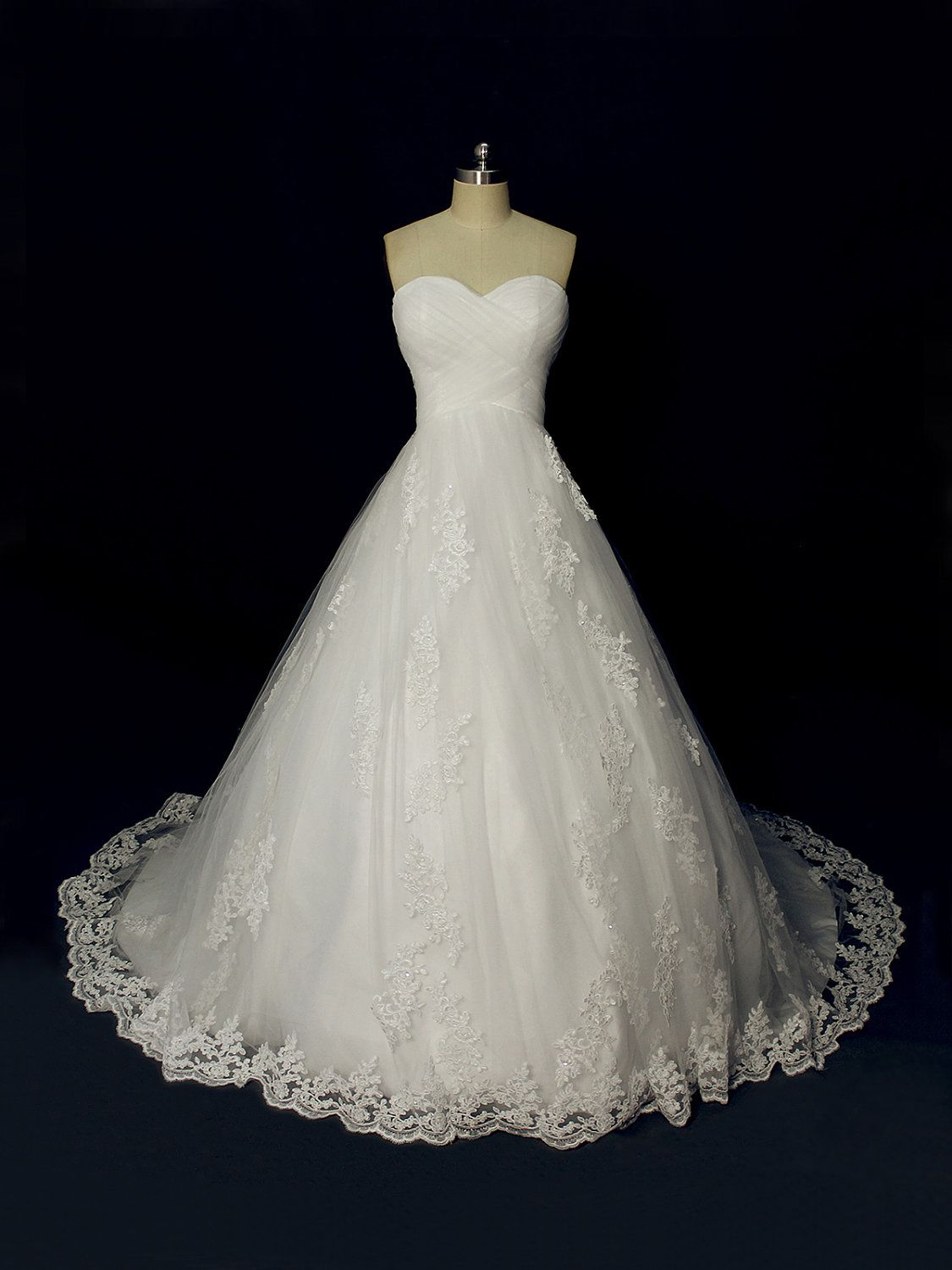 Gorgeous Custom Made Ball Style Wedding Dress, Tulle and Applique ...