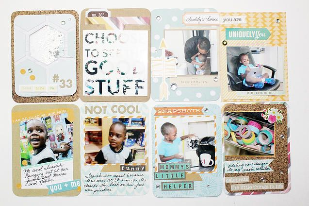 Project life layout using a glitter shaker card.