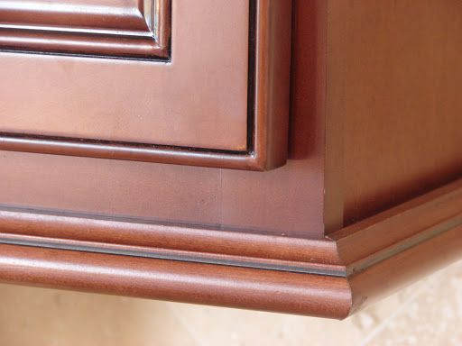 under cabinet molding kitchen cabinets | 041 jpg sw light rail molding  cabinetry formaldehyde free solid - Waypoint Inset Light Rail Molding In Maple Coffee Glaze Home
