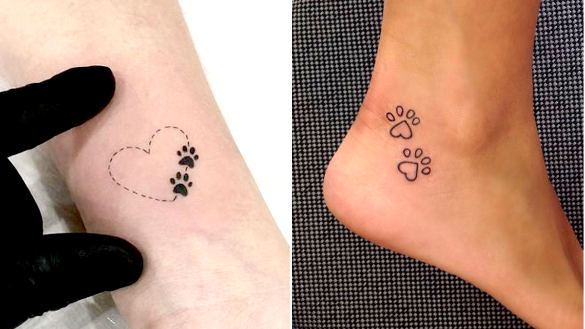 47 Tiny Paw Print Tattoos For Cat And Dog Lovers Pawprint Tattoo Tattoos For Dog Lovers Tattoos For Lovers