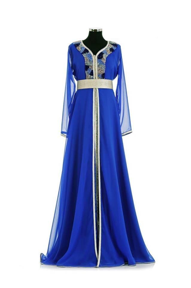 Robe bleu roi t48