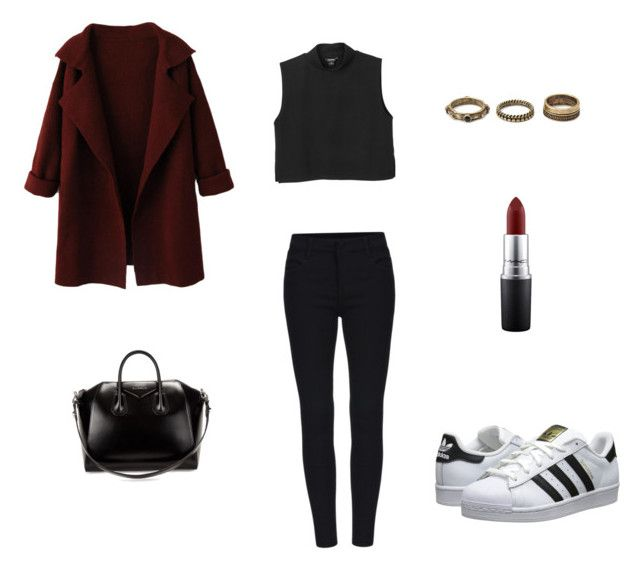 """""""Untitled #1"""" by afnan4 ❤ liked on Polyvore featuring WithChic, adidas Originals, Monki, MAC Cosmetics, Forever 21 and Givenchy"""