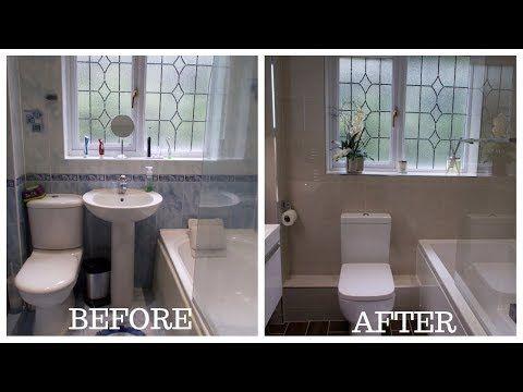 Small Bathroom Total Makeover Renovation Youtube Diy Bathroom Makeover Diy Bathroom Makeover Small Small Bathroom Makeover