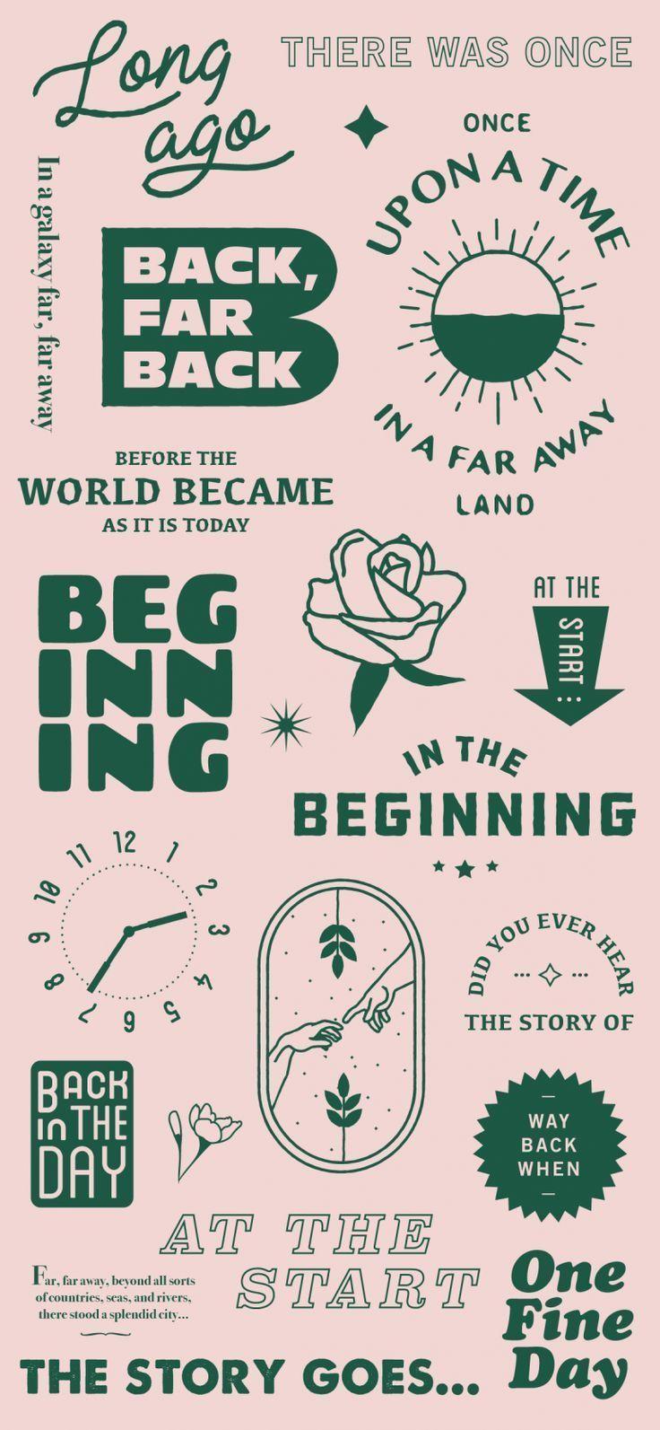 Beginnings On Inspirationde Typographic Design Graphic Design Typography Graphic Design Posters