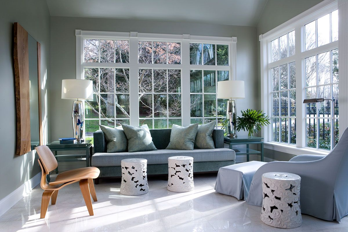 Window ideas for a sunroom  drakeanderson  sophisticated neutrals  pinterest  interiors