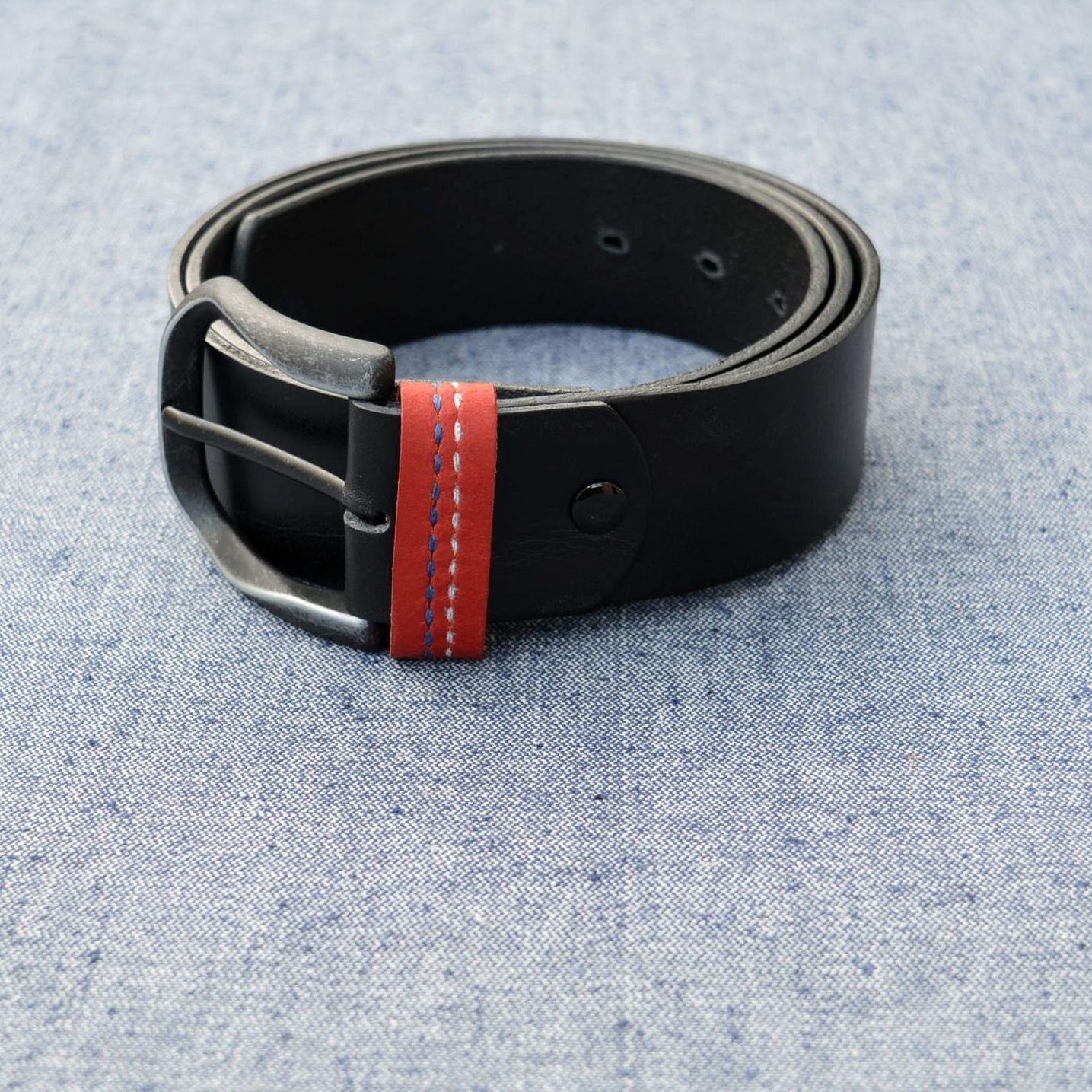 Leather belt Nordic Norway Mens leather casual belt 40 mm