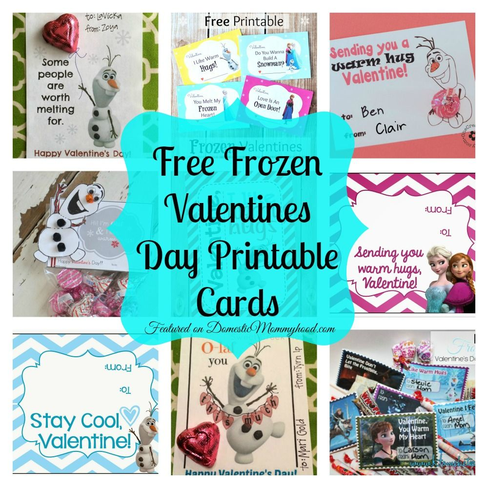 8 Free Frozen Valentines Day Printable Cards