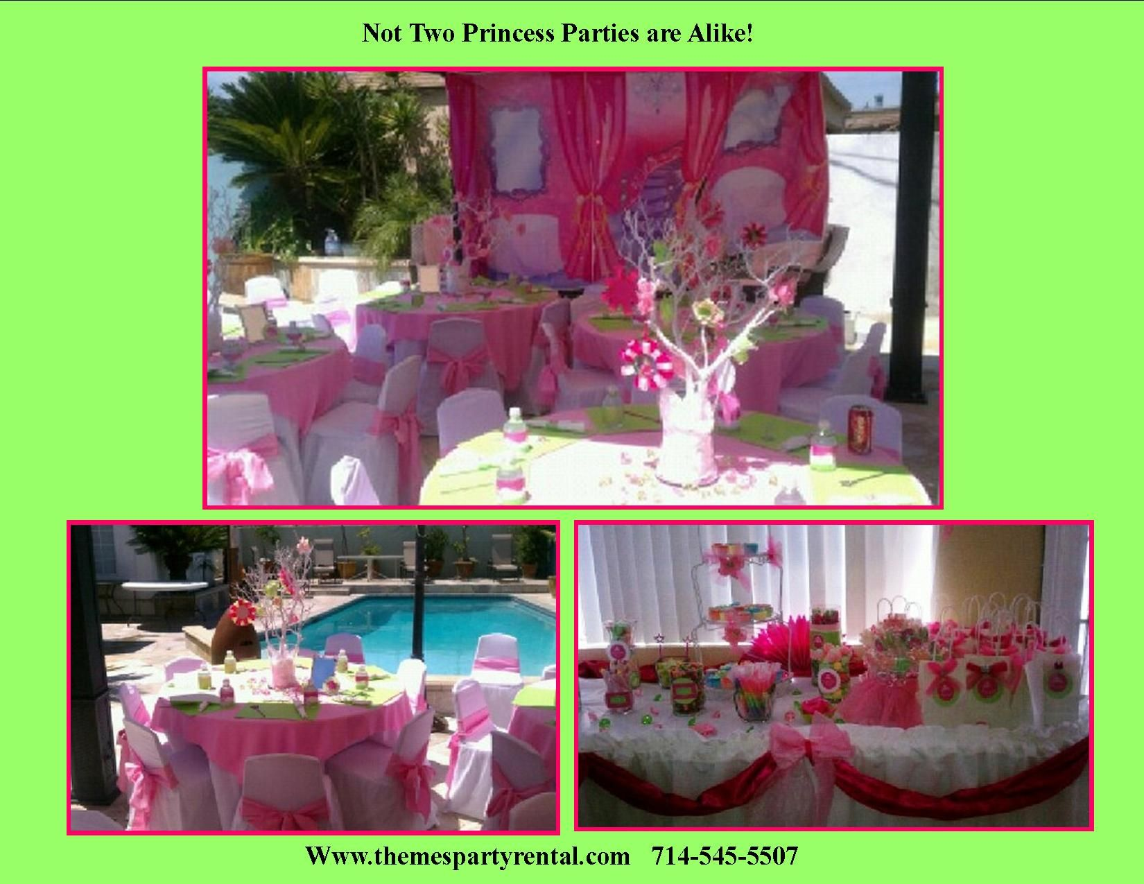 Princess Party Ideas Decorations Centerpieces Birthday Kids Sized Tables And Chairs With Custom Chair