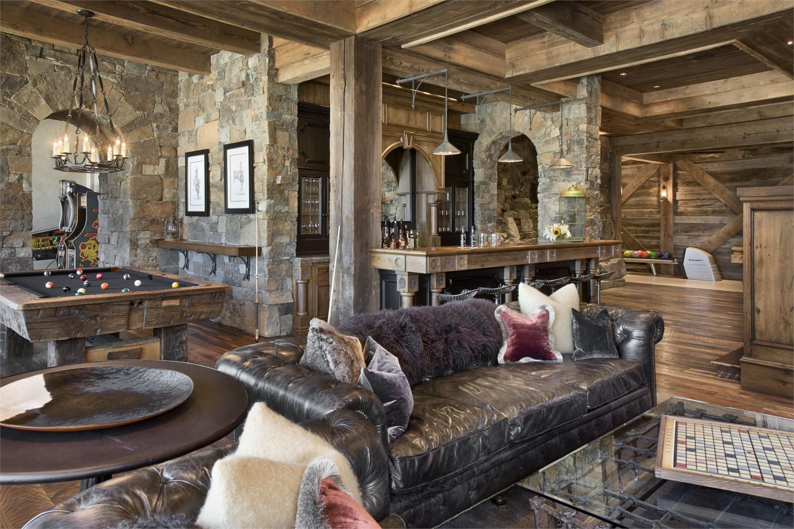 family game room family room rustic. game and entertainment rooms featuring witty design ideas family room rustic a